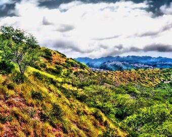 The Hills of Diamond Head Fine Art Photo Bob Ferguson: 8X10