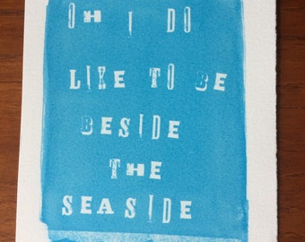 Seaside quote print