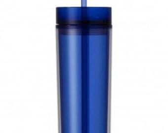 16 oz. Skinny Tumbler BLUE
