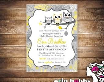 Whooo's Having a Baby? Baby Shower Invite