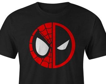 Spider Man and DeadPool Logo Shirt, Spider Man Tee, Deadpool Tee, SpiderMan Shirt, Deadpool Shirt, Spider Man T-shirts, DeadPool T-shirts