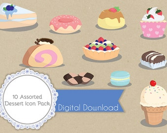10 Assorted Desserts Icon / Illustration Pack
