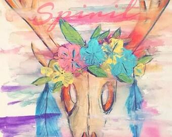 Free Spirit watercolor print