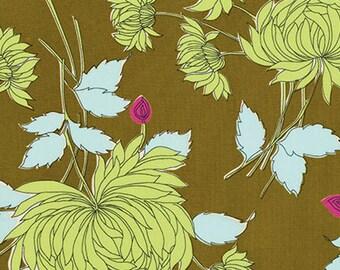 1 yard - Amy Butler Belle Chrysanthemum in Olive SALE FABRIC