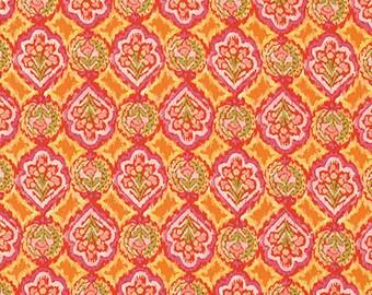 SALE 1 yard - Dena Designs Ikat Geo in Orange Fabric