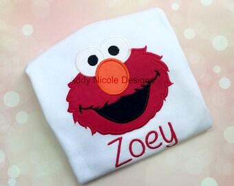 Elmo Shirt, Elmo Birthday Shirt, Boys or Girls Shirt, Personalized Shirt