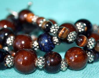 Tribal Tigerseye beaded necklace