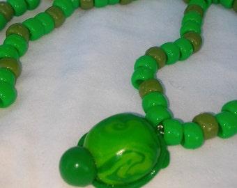 Turtle Kandi Necklace