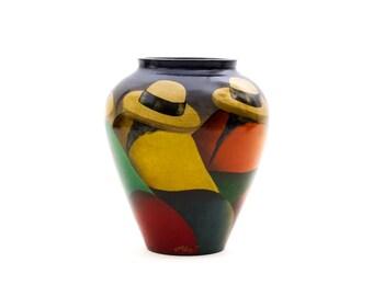 Peru Art Pottery Vase by C. Morit