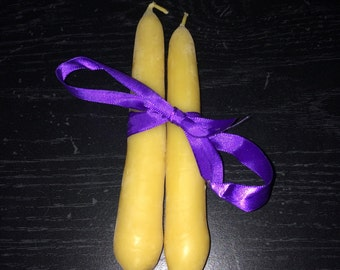 Pure Beeswax 6 in Taper Candles