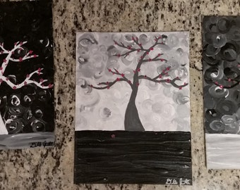 Painting, Trees, against the moonlight