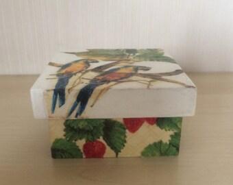 Decoupage box, Jewelry Storage Box, Wedding Wishes Box, Decoupage furniture, Vintage Box, Wooden decoupage, Wooden box, Home decor