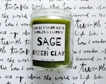 Scented Candles | Candles | SAGE |  jar candle | 8 oz