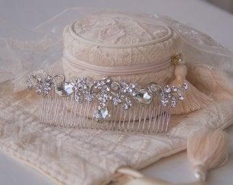 Crystal Bridal Hair Comb, Luxury Wedding Headpiece, Rhinestone Hair Comb, Vintage Style Hair Pieces, Gatsby, Bridal Jewelry