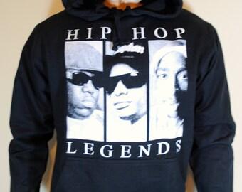 Hip Hop Legends Mens Hoodie Tupac Sweatshirt