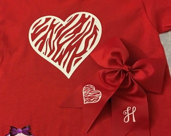 Valentine shirt and bow