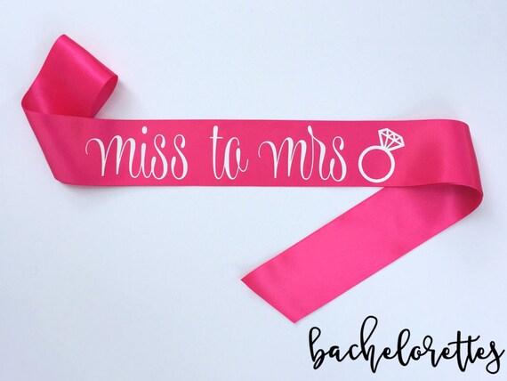 Miss to Mrs. Sash
