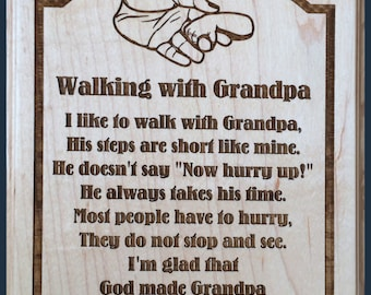 Walking With Grandpa Plaque
