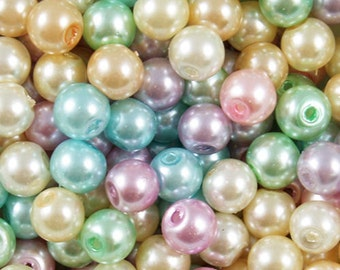 6mm Pearl Beads, Pastel Pearl Beads, 6mm Pastel, 6mm Beads, 6mm Pastel Glass Beads, Pearl Beads, 6mm Glass Beads, Pastel Pearls, Pastel Bead