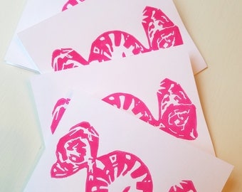 Candy Print Handmade 5-Card Pack (Pink)