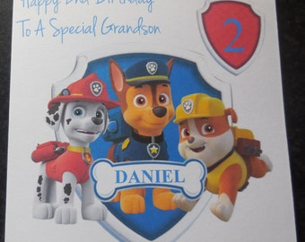 Personalised Paw Patrol Birthday Card - 1st 2nd 3rd 4th 5th