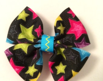 Multi color star barrette