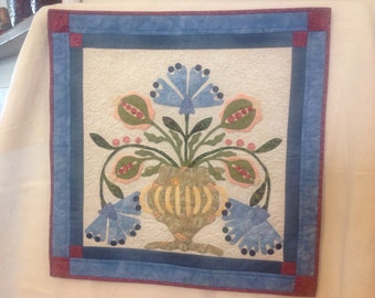 Hand Appliqued and Quilted Wall Hanging