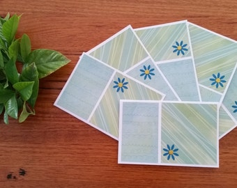 Greeting cards (set of 6) - Aqua Limes