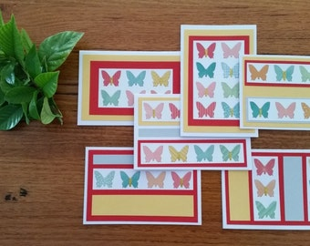 Greeting cards (set of 6) - Butterflies on Parade