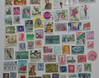 82 Decorative used stamps, mostly from the 1990s
