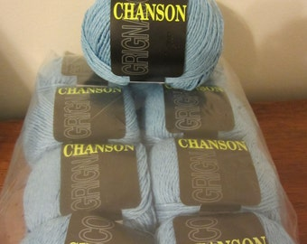 Chanson by Grignasco with Bamboo, Linen, Silk & Rayon in light blue