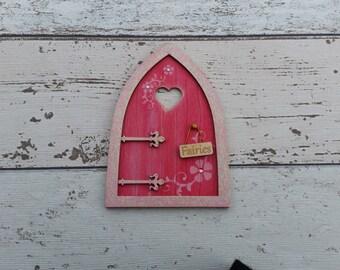 Fairy Door Elf Door Shabby Chic Pink Beautiful Handmade Various options