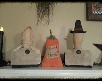 Give Thanks Pilgrims with Pumpkin