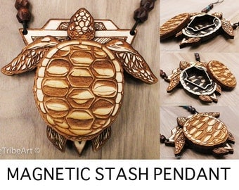 Turtle Totem Stash Pendant - ONLY 25 AVAILABLE!