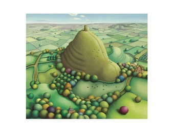 Glastonbury Tor - Blank Greeting Card - Somerset Landscape painting - West Country