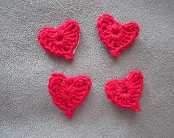 Crocheted Heart Stickers for Scrapbooking