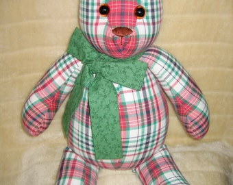 Red and Green Tartan Ted
