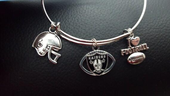 oakland raiders bracelet nfl jewelry by freddysthingsandstuf