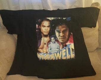 Vintage Maxwell, Gerald R&B/ SOUL ARTIST  2XL throwback t shirt New