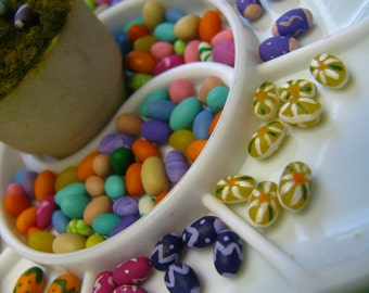 12 Miniature Easter Eggs-Hand Painted Eggs-Miniature Easter Eggs-Miniature Eggs