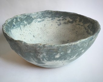 Distressed Stoneware Serving Bowl