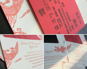 The Lee Suite, tyingtheknotnyc, custom, letterpress wedding invitation - Sample Listing