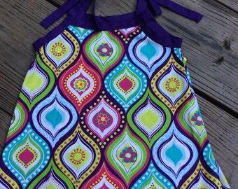 """Girls """"Multicolored Flower"""" Sun Dress, size 5T"""