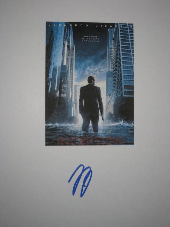 Inception Signed Film Movie Script Screenplay Autographs Leonardo DeCaprico signature