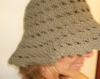 Gray summer hat