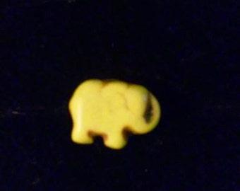 3D Yellow Elephant Pin