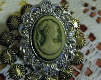 A Little Steam Punking Going On Say Hello 'To My First Cameo Brooch