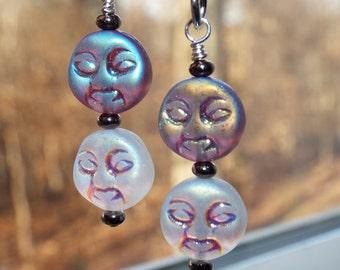 Funky Little Moon Face earrings