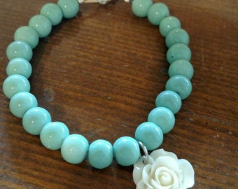 Mint Green Flower Bracelet