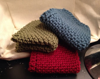 Knit Dish Cloths - Pack of 3